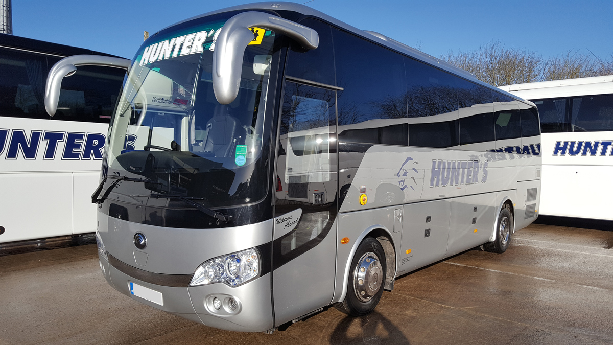 Coach hire in Rugby
